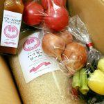 新米、採れたて野菜を送らせていただきました!